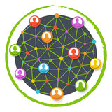 Globale netwerkmededeling Royalty-vrije Stock Fotografie