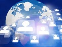 Globale Netwerkverbindingen Royalty-vrije Stock Afbeeldingen