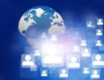 Globale Netwerkverbindingen Stock Afbeeldingen