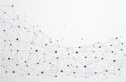 Globale netwerkverbindingen met punten en lijnen vector illustratie