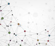 Globale netwerkverbindingen met punten en lijnen De abstracte Achtergrond van de Technologie Moleculaire structuur met verbonden  royalty-vrije illustratie