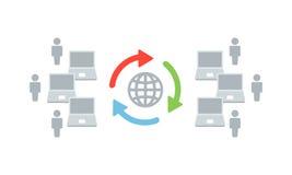 Globale Netzwerke - Vektor-Illustration für Ihr Geschäft vektor abbildung
