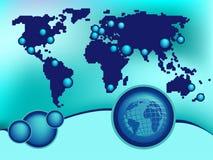 Globale ontwerpachtergrond vector illustratie