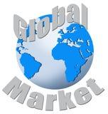 Globale Ontwikkeling van de Markt royalty-vrije illustratie