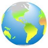 globale Planet 3d Erde-Amerika-Ikone Lizenzfreies Stockbild