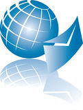 Globale Post   Lizenzfreie Stockfotos