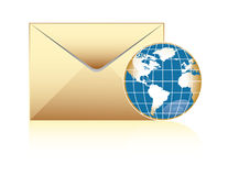 Globale post Royalty-vrije Stock Afbeelding
