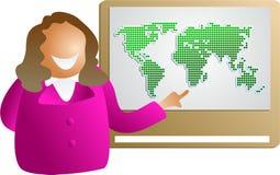 Globale presentatie vector illustratie