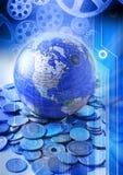 Globale Räder des Handels stockbilder