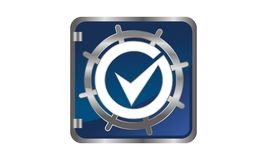 Globale Sicherheits-Schablone Lizenzfreie Stockfotos