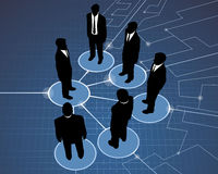 Globale Sitzung der Geschäftsmänner Stockfoto