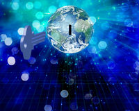 Globale Sleutel royalty-vrije illustratie