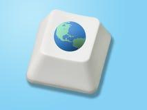 Globale sleutel royalty-vrije stock foto