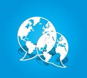 Globale sociale media mededelingen stock illustratie