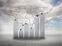 Globale Statistik über Himmelhintergrund Lizenzfreie Stockbilder