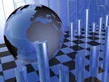 Globale Statistik Stockfoto