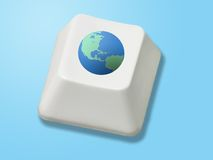 Globale Taste Lizenzfreies Stockfoto