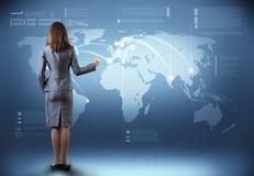 Globale technologieën Stock Foto