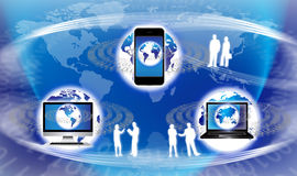 Globale Technologie-Ausrüstung Stockbilder