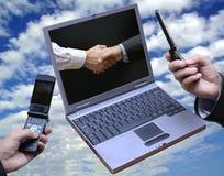 Globale technonogy Vereinbarung!! stockbild