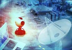 Globale telecommunicatie vector illustratie