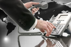 Globale telecommunicatie stock foto's