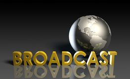 Globale Uitzending stock illustratie