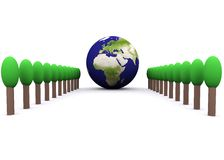 Globale Umgebung (Europa) lizenzfreie abbildung