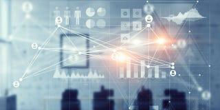 Globale verbinding en interactie Stock Afbeeldingen