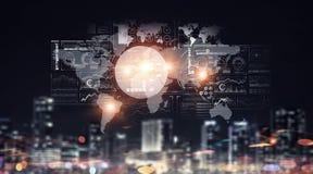 Globale verbinding en interactie Stock Fotografie