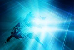Globale Verbindings Achtergrondconceptenreeks 09 vector illustratie