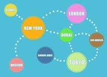 Globale Verbindung Lizenzfreie Stockfotografie