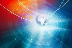 Globale Verbindungs-Hintergrund-Konzept-Reihe 11 Stockfoto