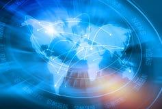 Globale Verbindungs-Hintergrund-Konzept-Reihe 12 Lizenzfreies Stockfoto