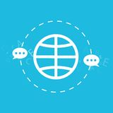 Globale Verbindungs- und Navigationstechnologie, senden E-Mail, Mitteilung, Konzept lokalisierte Illustration Lizenzfreies Stockbild