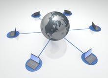 Globale Verbonden Computers Stock Afbeelding