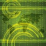 Globale verde binario di tecnologia astratta Fotografia Stock Libera da Diritti