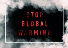 Globale Verwarmende Achtergrond stock afbeelding