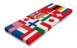 Globale Vlag Royalty-vrije Stock Foto's