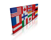 Globale Vlag Stock Foto's