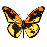 Globale Vlinder royalty-vrije illustratie