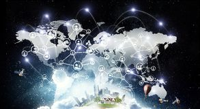 Globale voorzien van een netwerkzaken Royalty-vrije Stock Fotografie