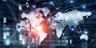 Globale voorzien van een netwerkzaken Royalty-vrije Stock Afbeelding