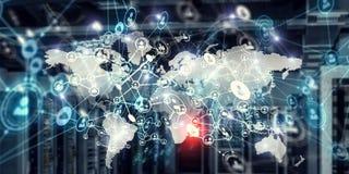 Globale voorzien van een netwerkzaken Stock Afbeeldingen