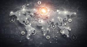 Globale voorzien van een netwerkzaken Stock Foto