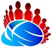 Globale vrienden vector illustratie