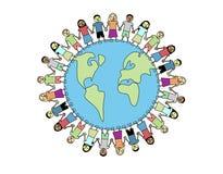 Globale Vriendschap royalty-vrije illustratie