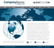 Globale Webseitenauslegung Stockfoto