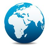 Globale Welt Afrikas, des Mittlere Ostens, Arabiens und Indiens lizenzfreie abbildung