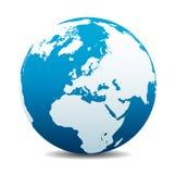 Globale Welt Europas, Europa, Mittlere Osten, Nord-Afrika, Russland vektor abbildung
